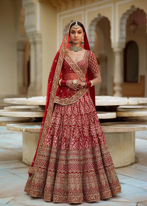 Heavy Embroidery Red Colour Lehenga Wedding Lehenga Chaniyacholi Ghagra Choli Indian Woman Dress In 2021 Indian Bridal Dress Indian Wedding Dress Red Best Indian Wedding Dresses [ 1112 x 794 Pixel ]