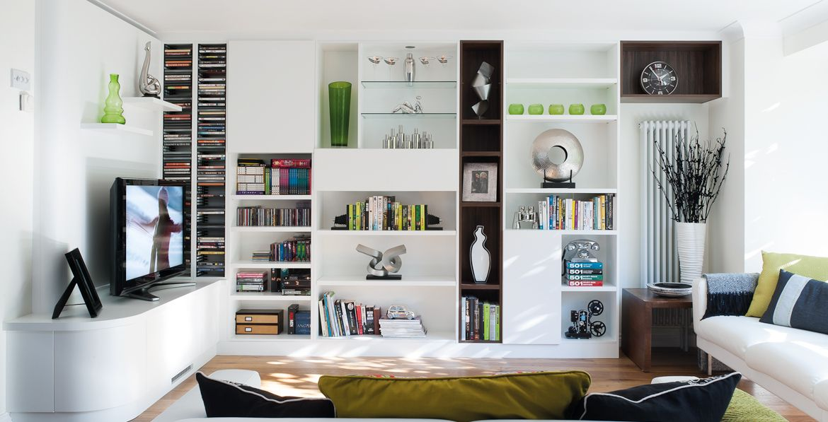 nevillejohnson.co.uk | living with books | open plan living, lounge