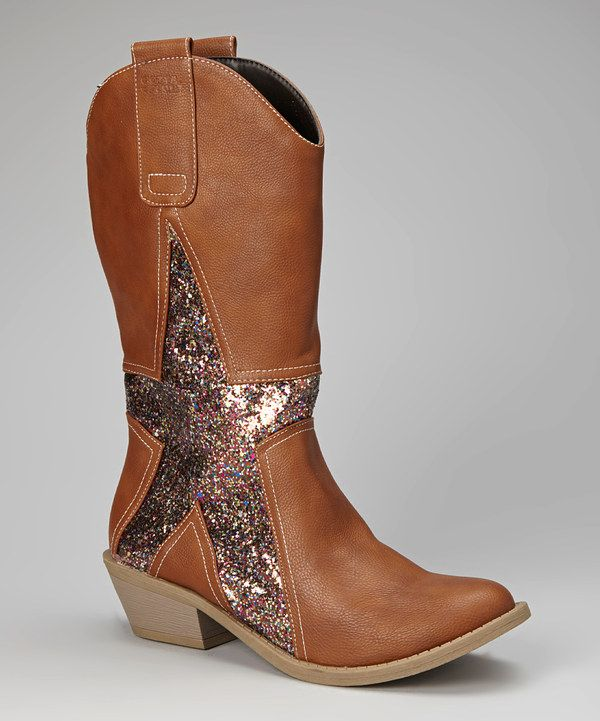 bd49c134548 Take a look at this Brown & Silver Alamo Cowboy Boot - Women on ...