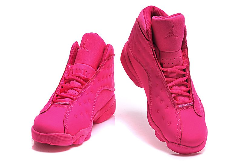 Womens Air Jordan 13 Retro GS All Pink Girls Size For Sale-1 fdda0123b1