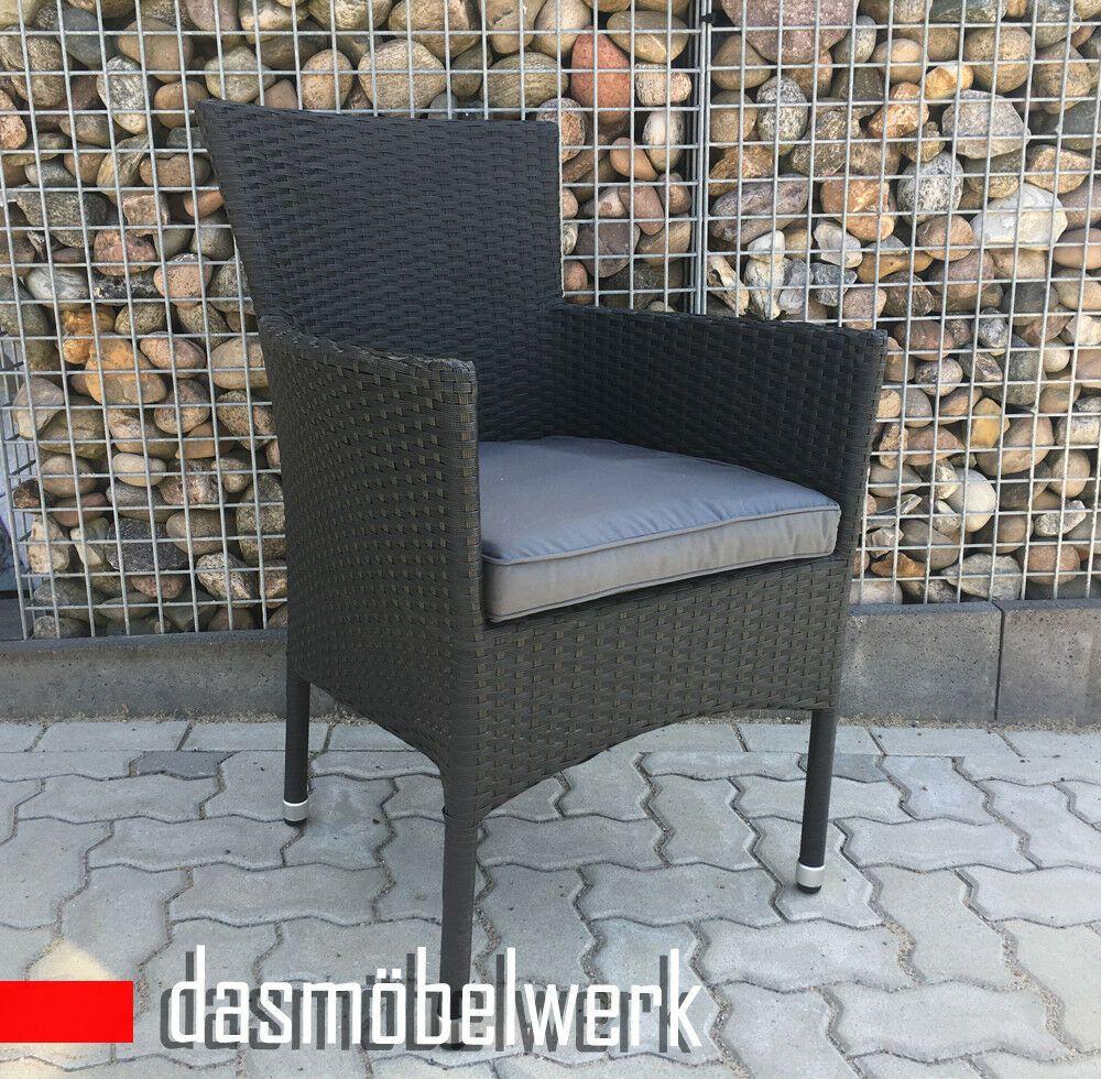 Polyrattan Sessel Stuhl Stapelbar Rattan Gartenmobel G