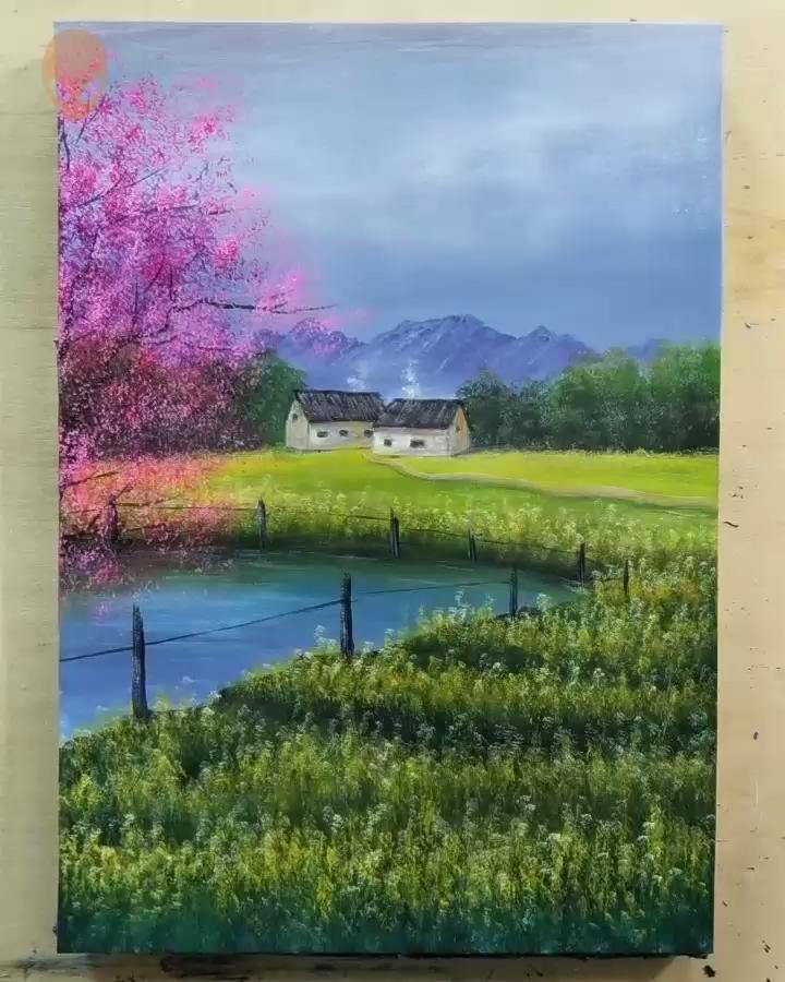 20 Pretty Landscape Painting Ideas Painting Tutorials Videos Part 5 Ideas Landscape Landscaped In 2020 Pretty Landscapes Landscape Paintings Painting Videos