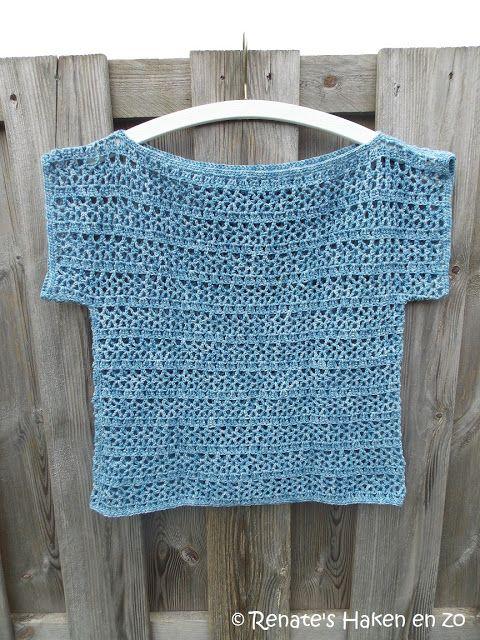 Gehaakt Zomer Truitje Met Link Naar Gratis Patroon Crochet