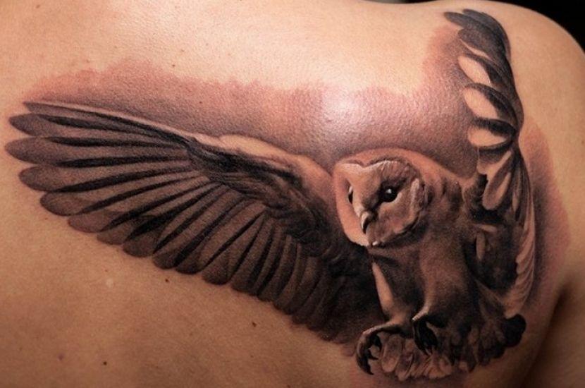 Resultado De Imagen Para Tattoos De Buho Volando Diseno De