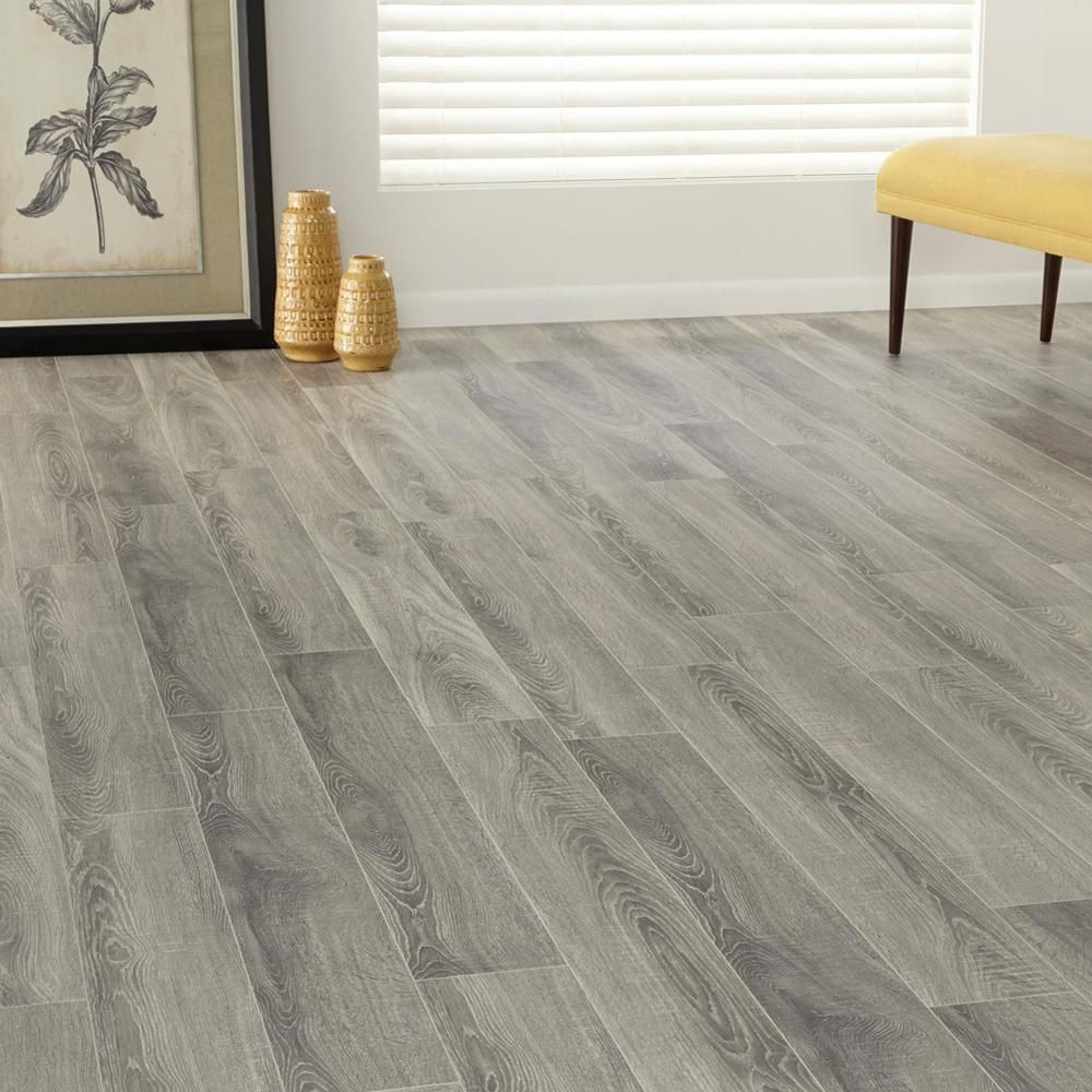 Home Decorators Collection Embossed Silverbrook Aged Oak 12 Mm Thick X 6 1 6 In Wide X 50 9 16 In Length Laminate Flooring 17 32 Sq Ft Case Hl1259 The Home Depot Flooring Laminate Flooring Wood Floors Wide Plank