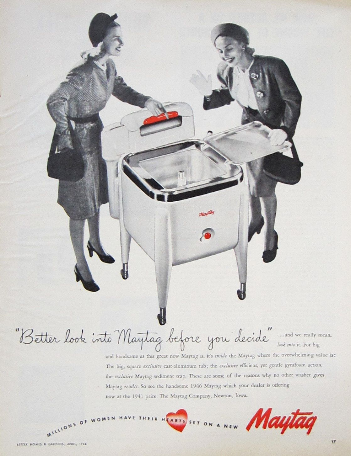1946 Maytag Washing Machine Vintage Advertisement Laundry