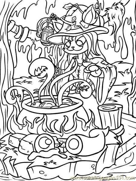 Neopets1 18 Coloring Page Coloring Pages Halloween Coloring Cartoon Coloring Pages