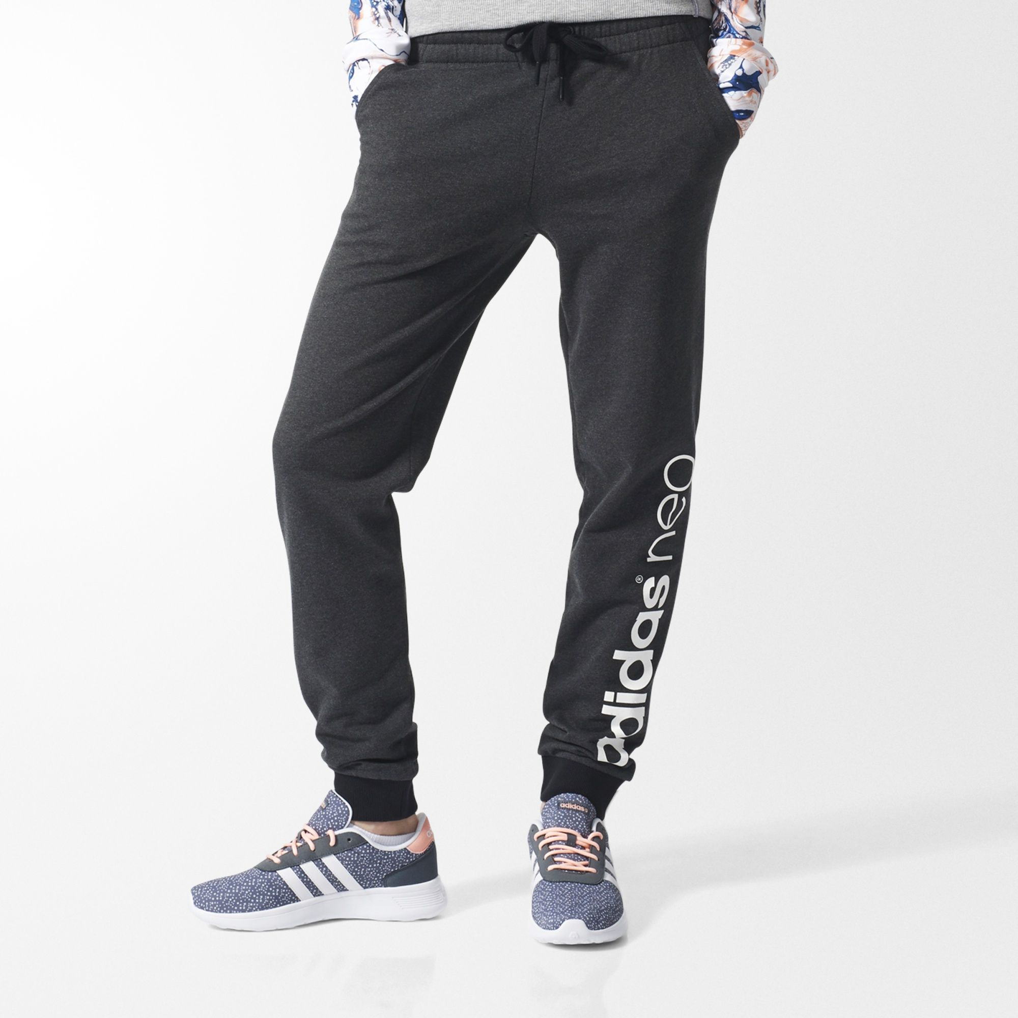 adidas Neo Men/'s Track Pants Grey