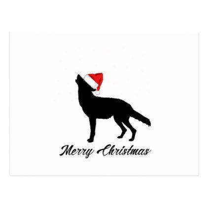 Merry Christmas Funny Dog Postcard - love cards couple card ideas