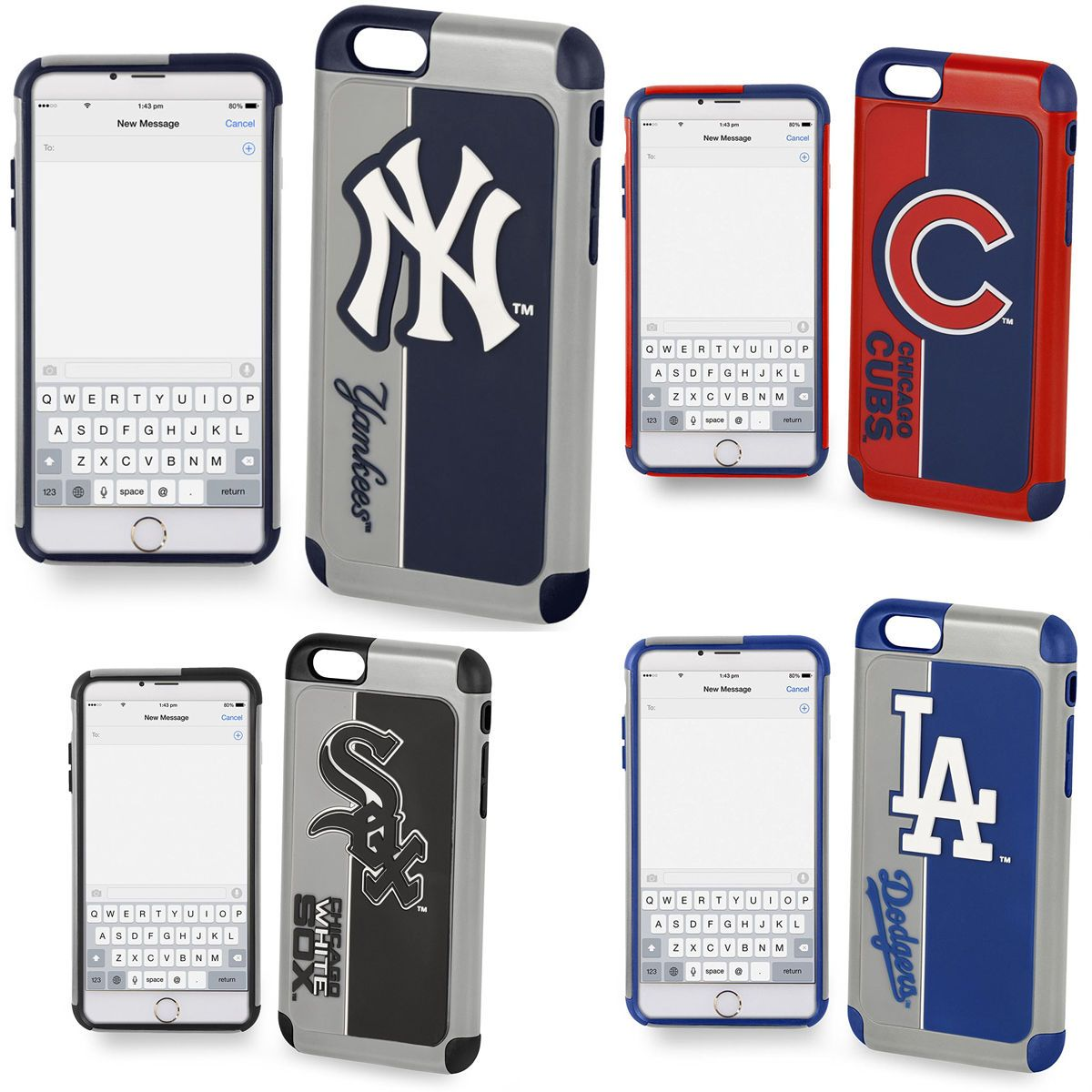 sale retailer 3f1f2 94c46 Apple Iphone 7 Case Official Mlb Impact Heavy Duty Shockproof Armor ...