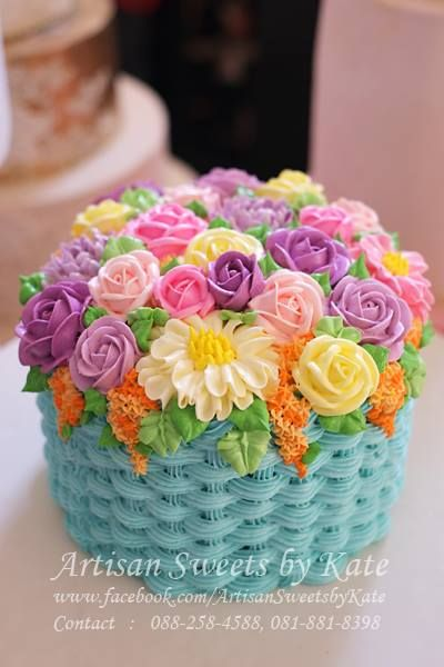 Flower Basket Cake Cake Decorating Designs Flower Basket Cake Cake Designs Birthday