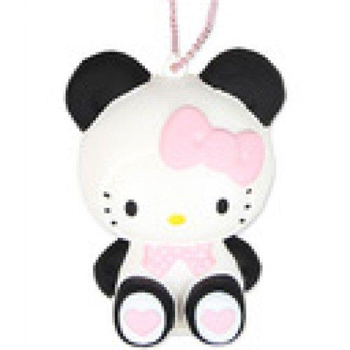 Rare Sanrio Hello Kitty in a Panda Costume Squishy Mascot.So Kawaiiiii!! I want it0-0
