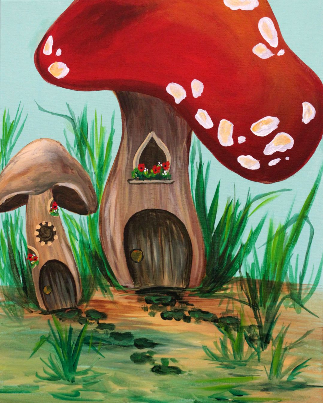 www.purpleeasel.com three-hour-paintings -   24 fairy garden drawing