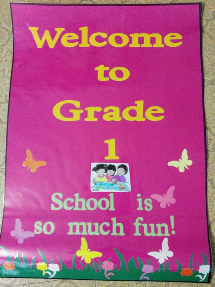 Grade 1 welcome chart | Posters | Pinterest