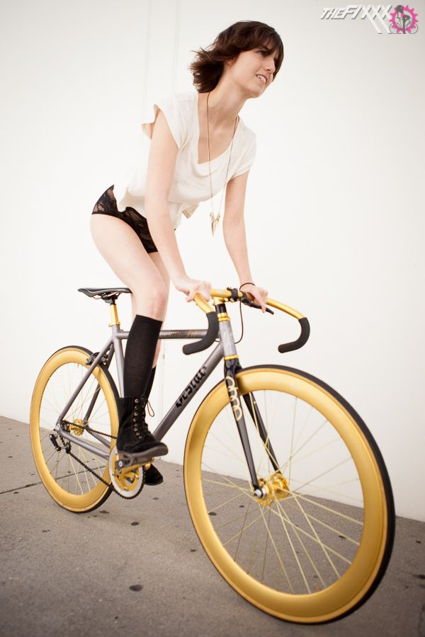 Ash Is Definitely Gold On Her Custom Bicycle It S Built Up Using