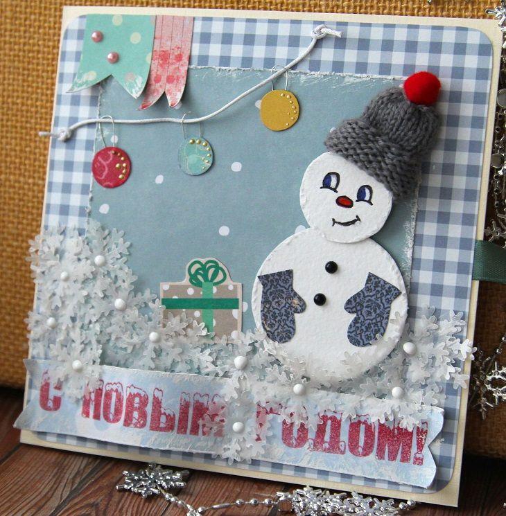 Tarjetas de navidad originales diy casa muneco nieve - Tarjetas de navidad originales ...