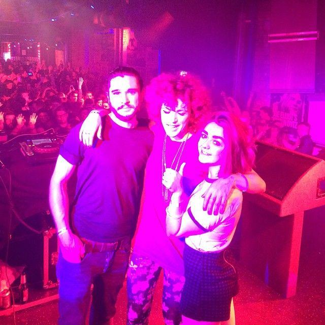 Jon Snow, Arya And Sansa Stark came to rave in Belfast last night. #gameofthrones