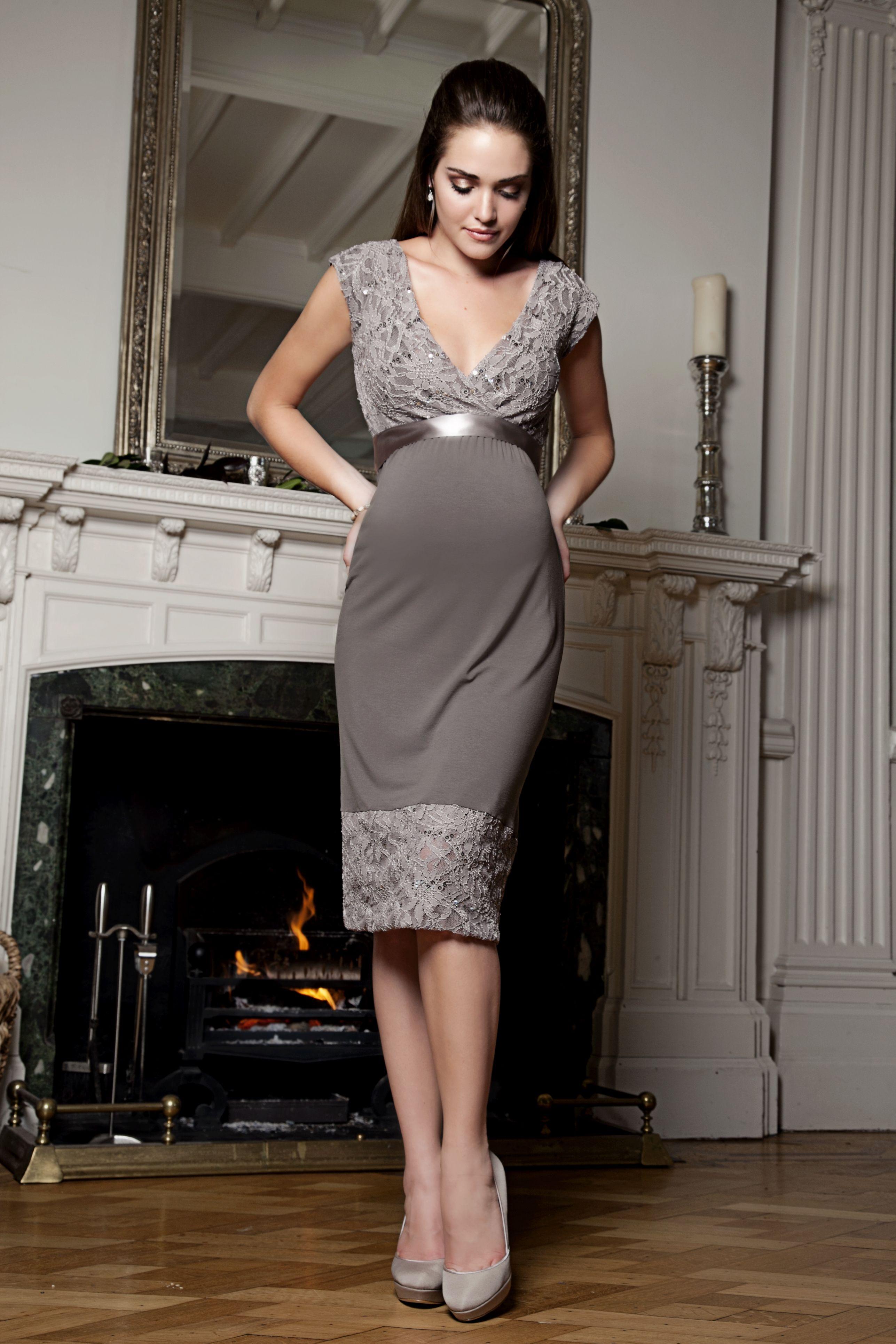 Lace dress for pregnant  Twilight Lace Dress Mocha    Maternity Trends  Pinterest