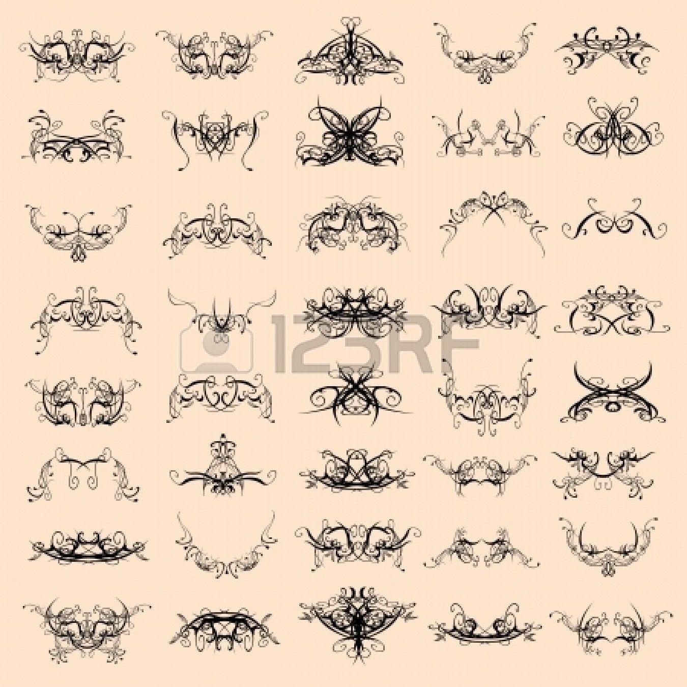 swirl decorative patterns - vector