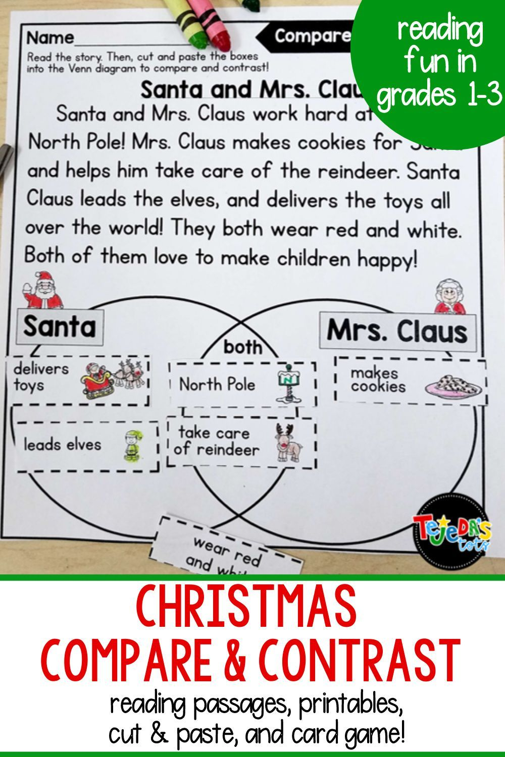 Christmas Compare And Contrast Passages Printables Compare And Contrast Christmas Reading Comprehension Reading Comprehension Activities [ 1500 x 1000 Pixel ]