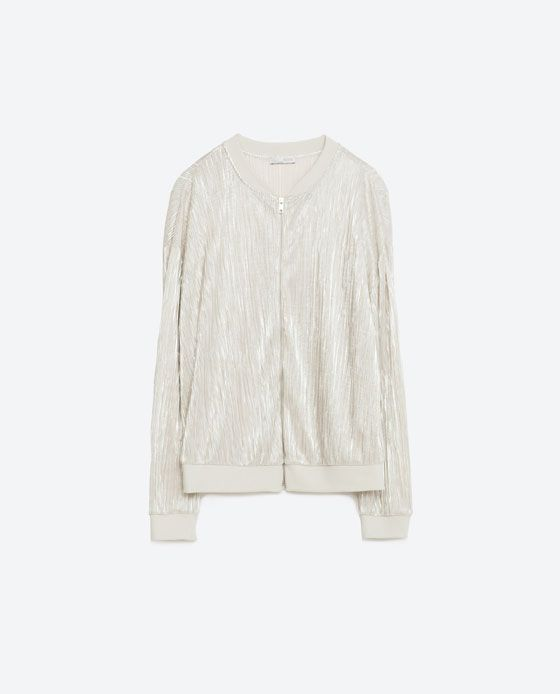 c7fd0c1d5e Image 6 of FINE PLEATED METALLIC BOMBER JACKET from Zara