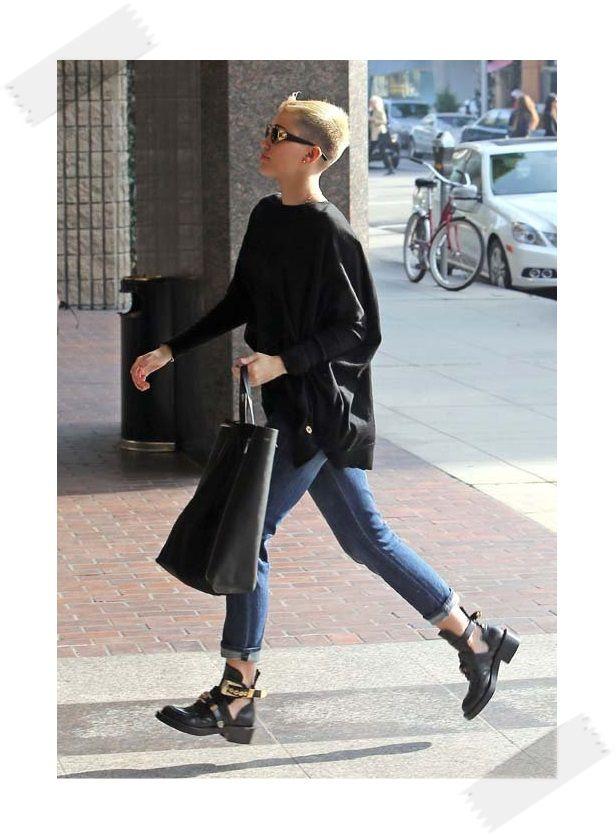 38436b8126ce miley-cyrus-black-balenciaga-ceinture-high-derby-cutout-boot-shoes -Celine-Bag-Gianni-Versace-S65-16L-Front-Vintage-Sunglasses-Upscalehype-2
