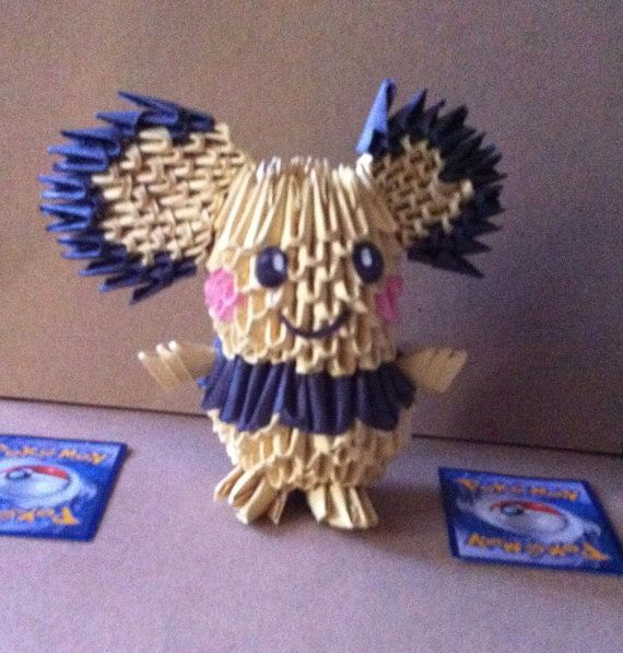 3D Origami Pichu Pokemen By SytorenCreations On Etsy