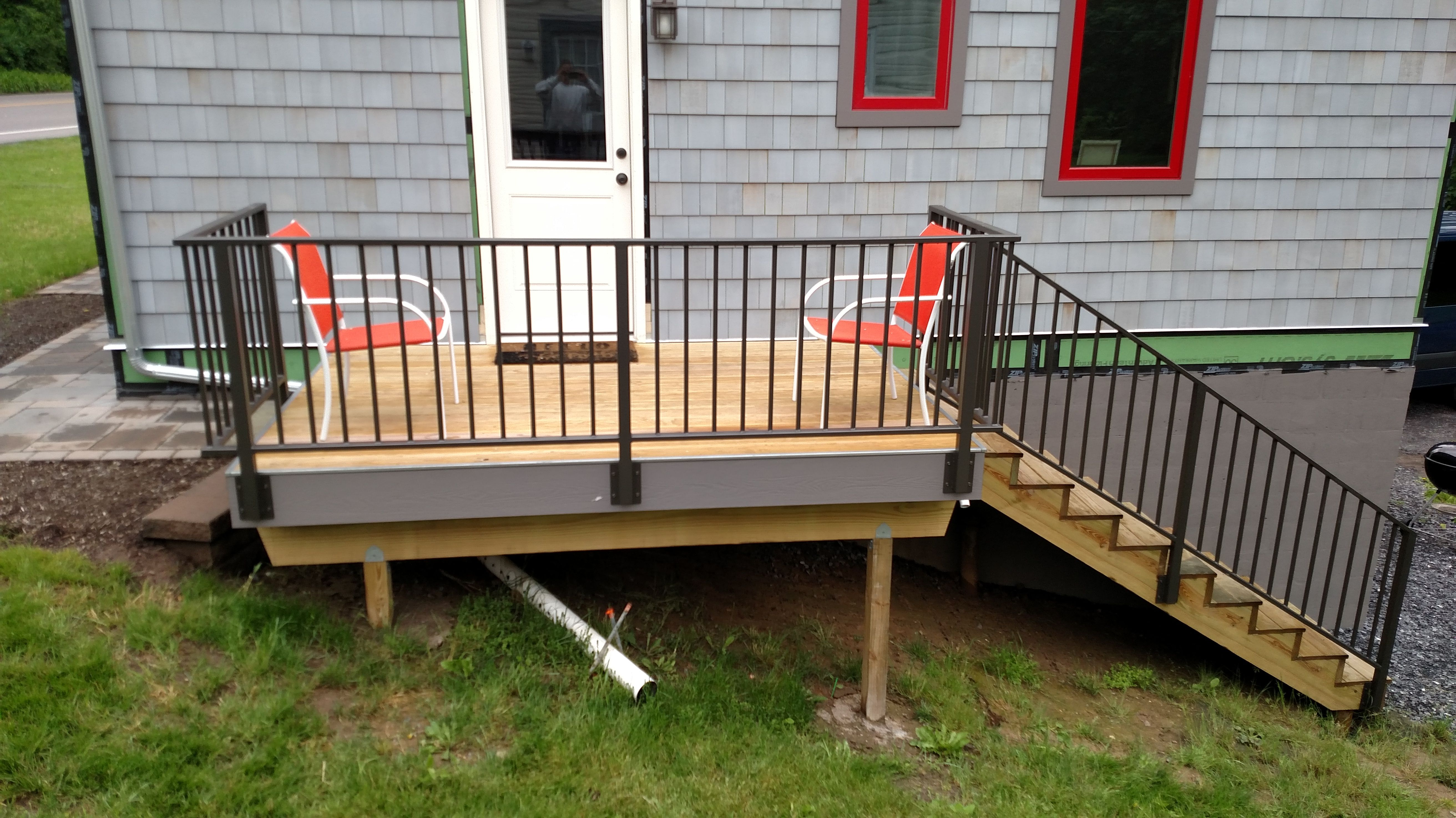 Best Custom Made Iron Railings For Patio Deck In Lemont Pa 400 x 300