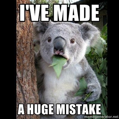 I made a silly mistake...?