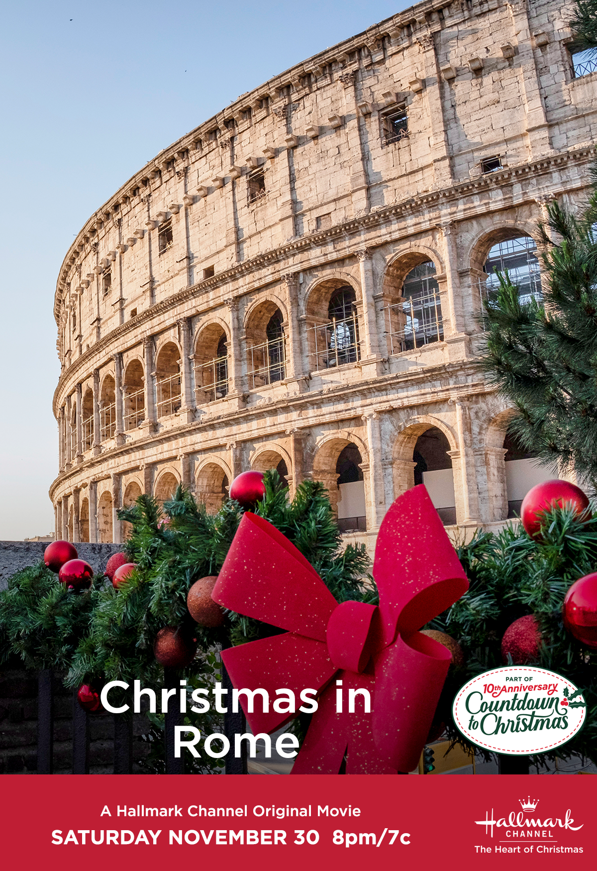 Travel Around The World And Spend Christmas In Rome Without Leaving Your Home Christmasinrome Cou Christmas In Rome Christmas Countdown Hallmark Channel