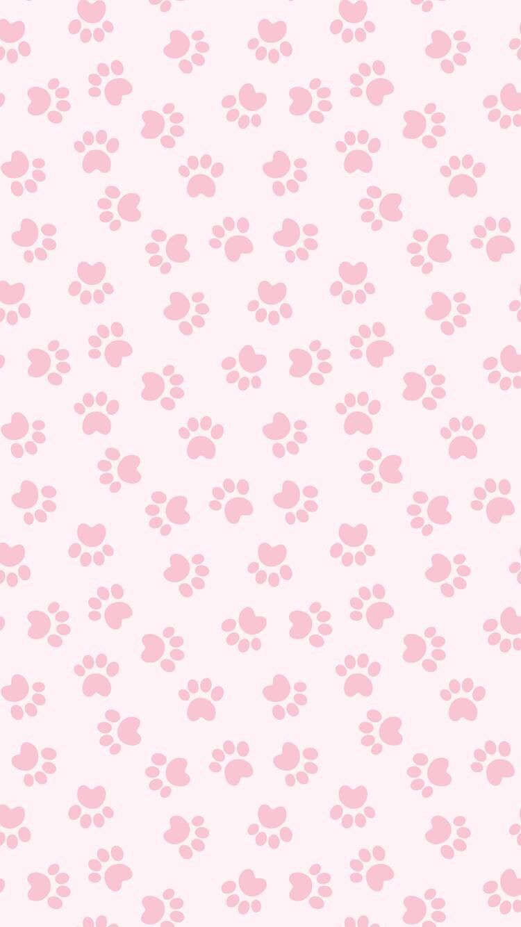 Iphone And Android Wallpapers Pink Paw Print Wallpaper For Iphone And Android Paw Wallpaper Print Wallpaper Pink Paw Print