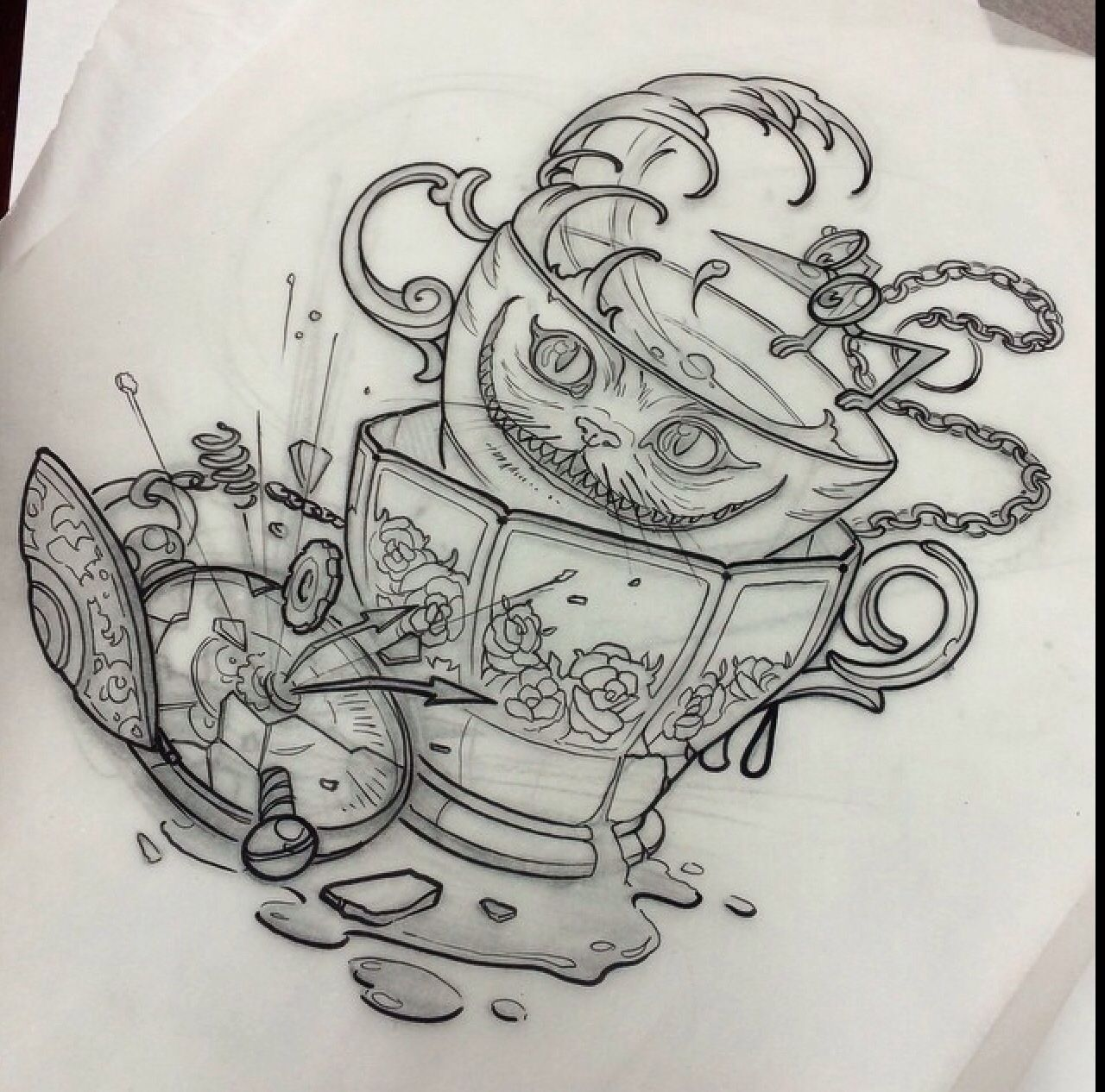 alice in wonderland tatuering pinterest alice tattoo and tatting. Black Bedroom Furniture Sets. Home Design Ideas
