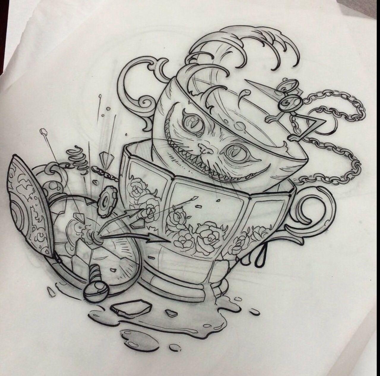 Alice In Wonderland Wunderland Tattoo Armeltatowierungen Und