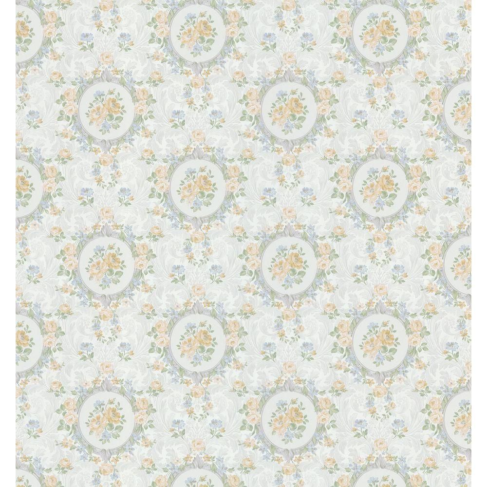 Brewster 56 Sq Ft Rose Scroll Cameo Wallpaper 979 62711 At The