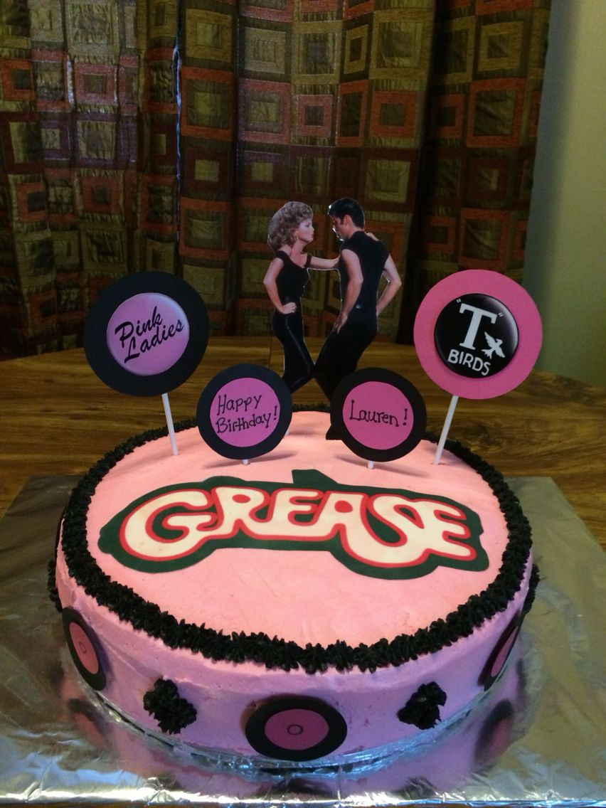 Grease Themed Cake Kristen S Cakes Grease Party