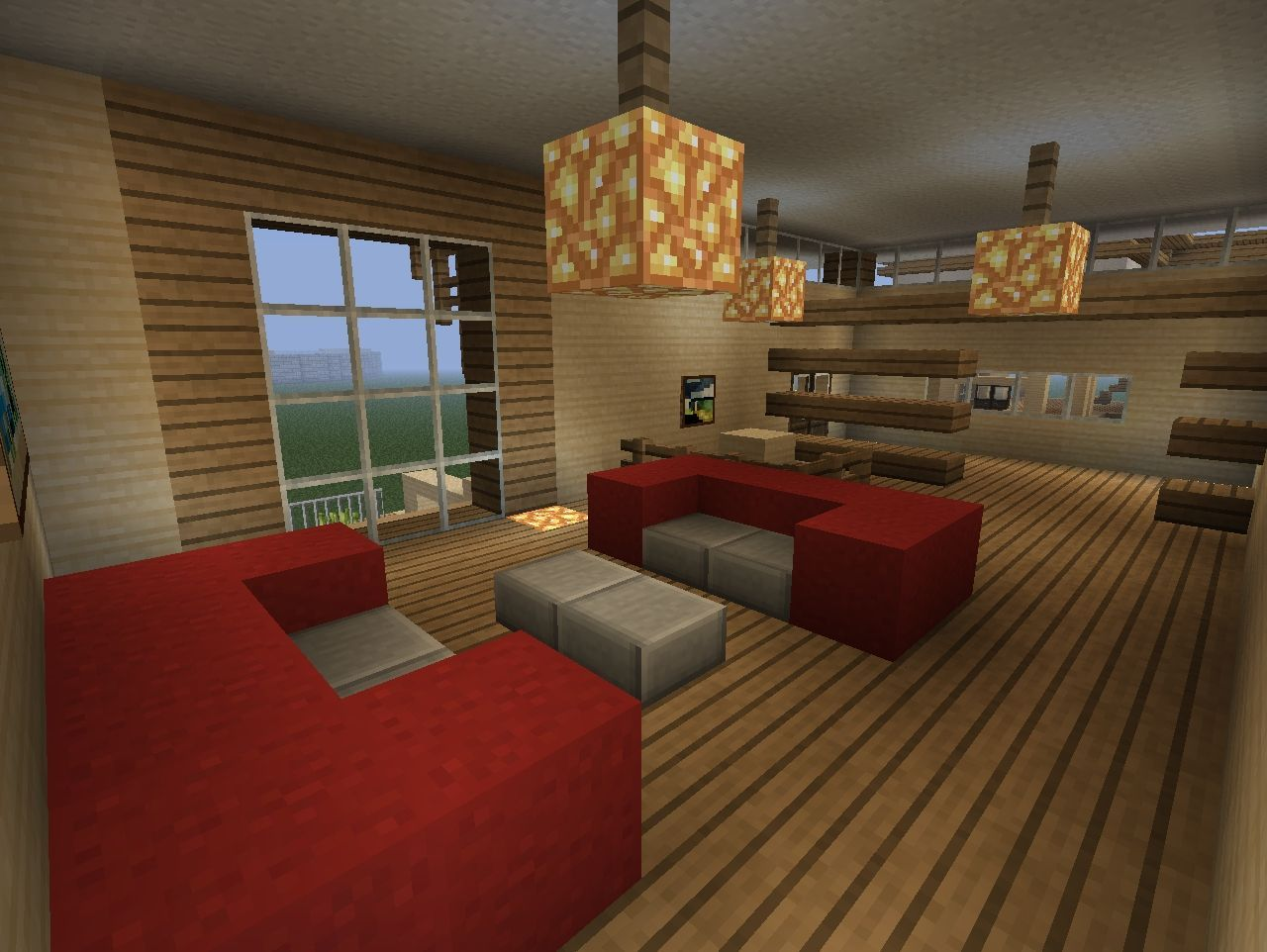 Small Modern Home Minecraft Project Minecraft Interior Design Minecraft Room Minecraft Room Decor