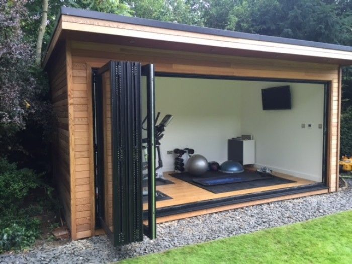 Gallery contemporary garden rooms garden room garden for Garden shed gym