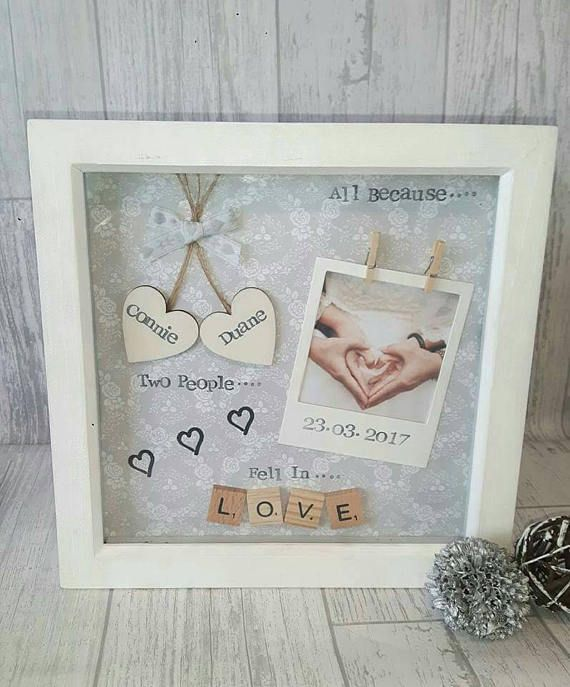 Anniversary Gift Wedding Personalised Frame Scrabble Gifts For Her Him Art Photo Keepsake Love