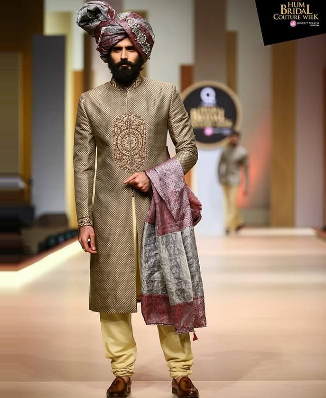 8a3cabc3c8 31 Best Pakistani Groom Sherwani Designs for Wedding | mens wear ...