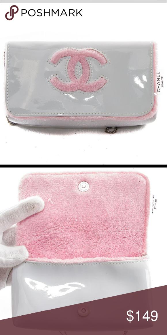 Chanel Beaute Precision Bag New Super cute rare white / pink