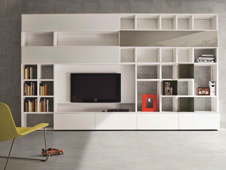 Mueble modular de pared lacado con soporte para tv SPEED E Colección ...