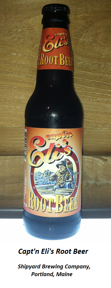 ROOT BEER REVIEW, Capt'n Eli's Root Beer: A wildly rooty and spicy aroma. Pours foamy with a decent head. Intial flavor is only moderately sweet, and it has a strong kick of wintergreen. Some licorice, nutmeg (or maybe it's cinnamon?) and a hint of vanilla are all present in the aftertaste. Fans of wintergreen/birch flavor might like this captain's brew.