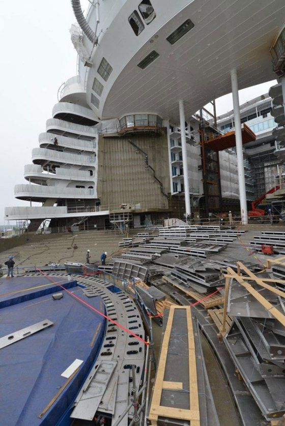 Latest Construction Photos From Onboard Next Royal Caribbean
