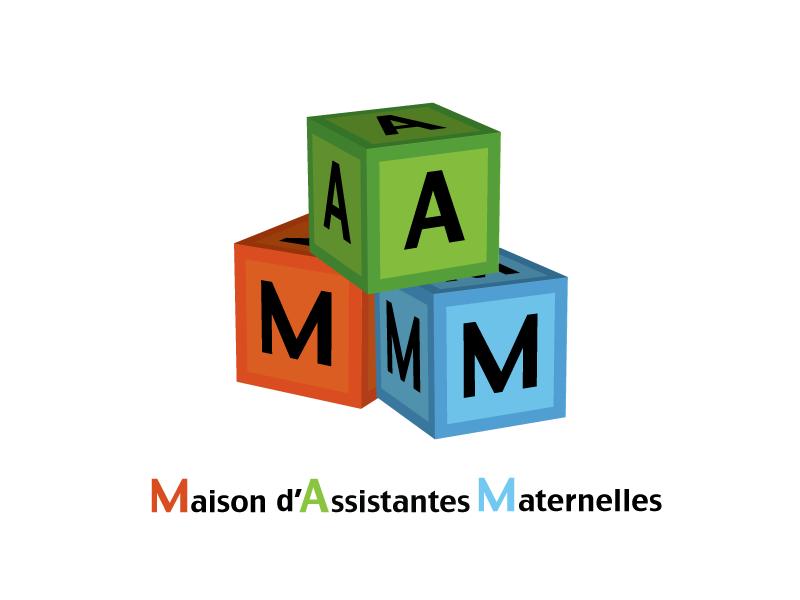 Maquette de logo pour une maison d 39 assistantes maternelles for Logo avec une maison