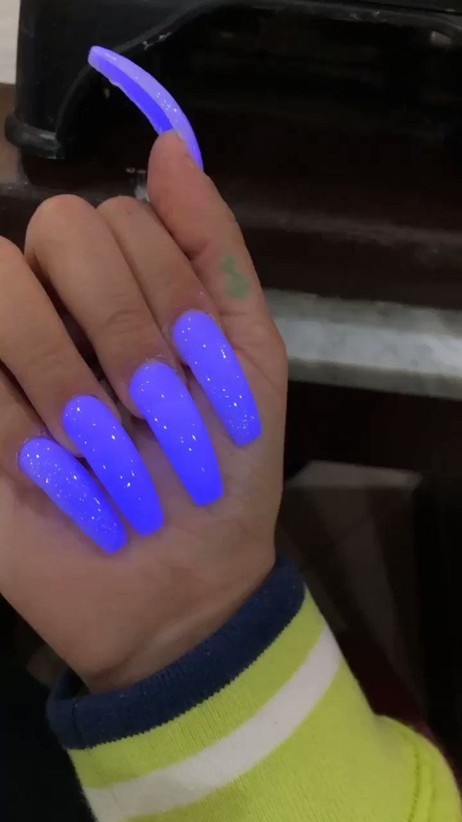 Illiwintrr Purple Acrylic Nails Glow Nails Purple Nails