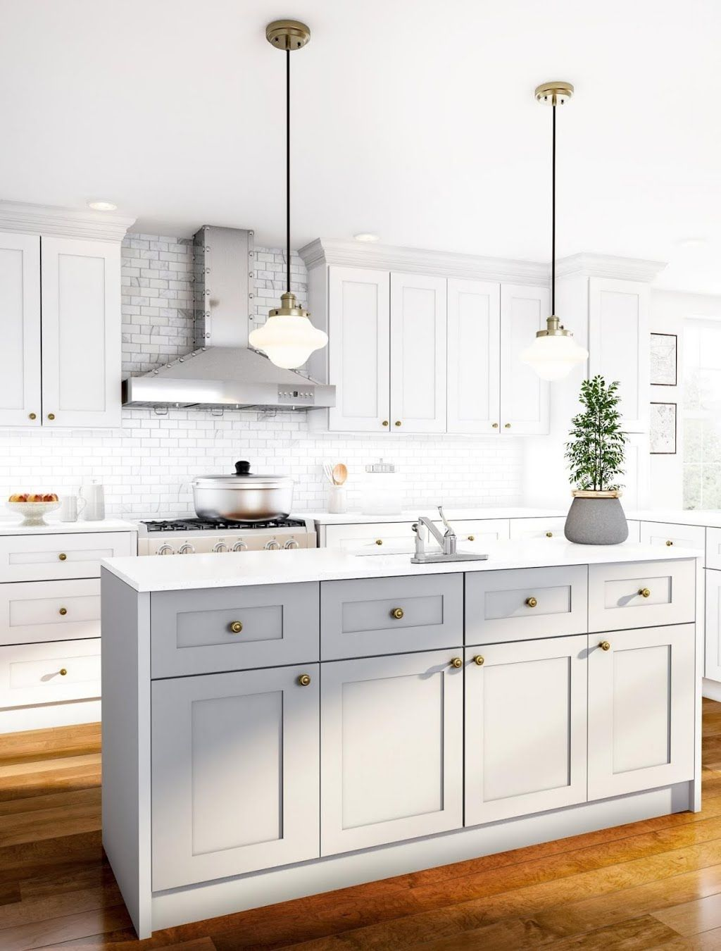 Classic Open White Kitchen Kitchen The Home Depot New