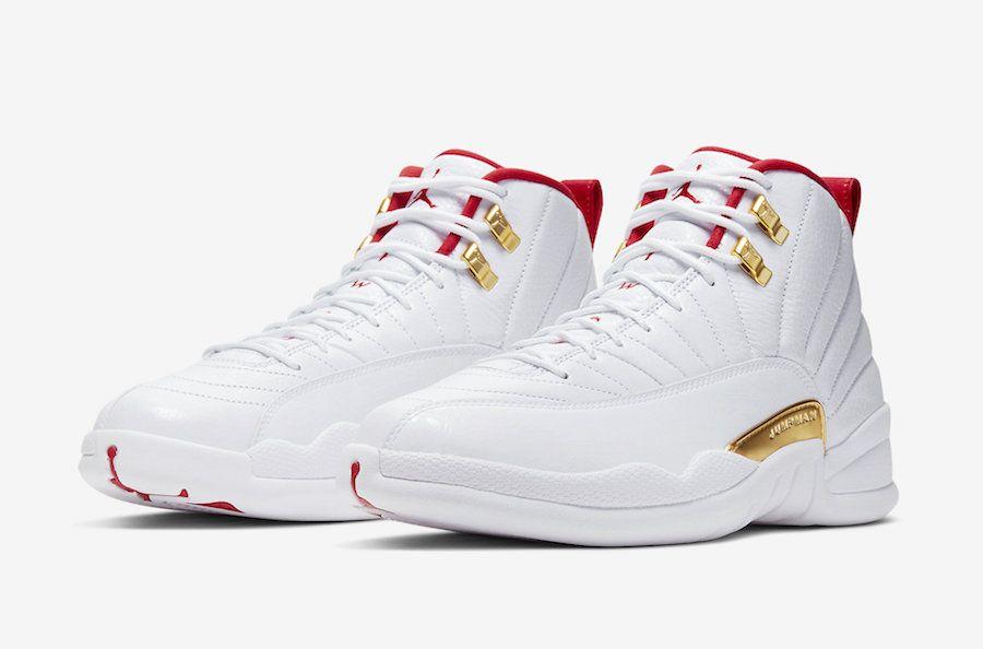 Air Jordan 12 FIBA White University Red 130690-107 Release Date ...