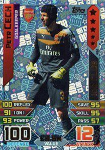 Match Attax 2015 2016 Petr Cech 100 Hundred Club Trading Card 15 16 Match Attax Arsenal Match Trading Cards