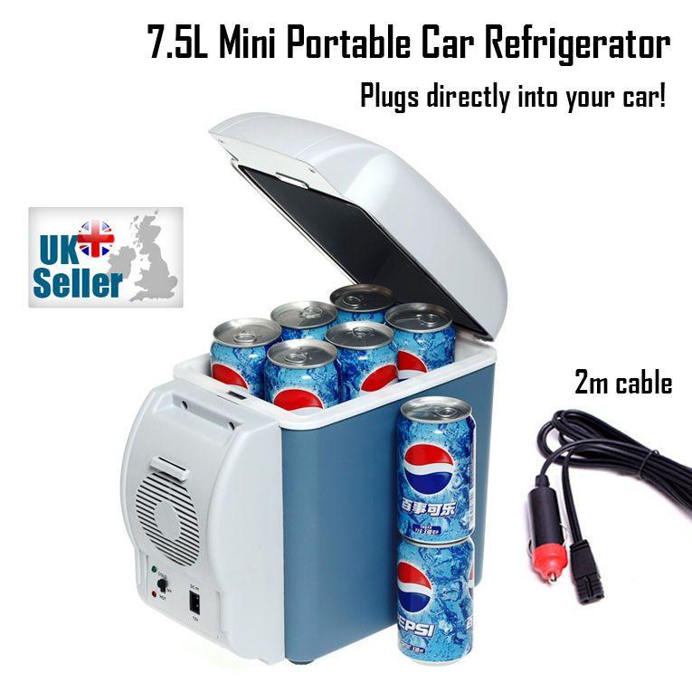 7 5l Mini Portable Car Van 12v Freezer Refrigerator Warmer