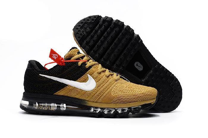 sports shoes 3ecc6 06dbc Nike Air Max 2017 Black Khaki Mens Sneaker Tenis, Zapatillas, Moda, Hombres,